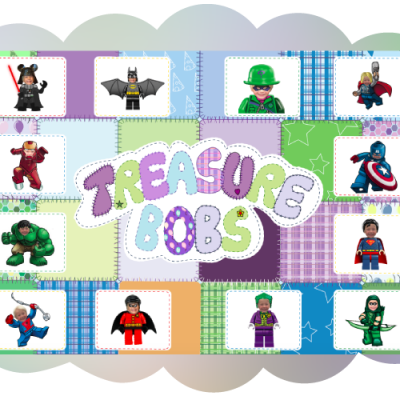 Example of personalised hide and seek game, super hero theme, treasure hunt